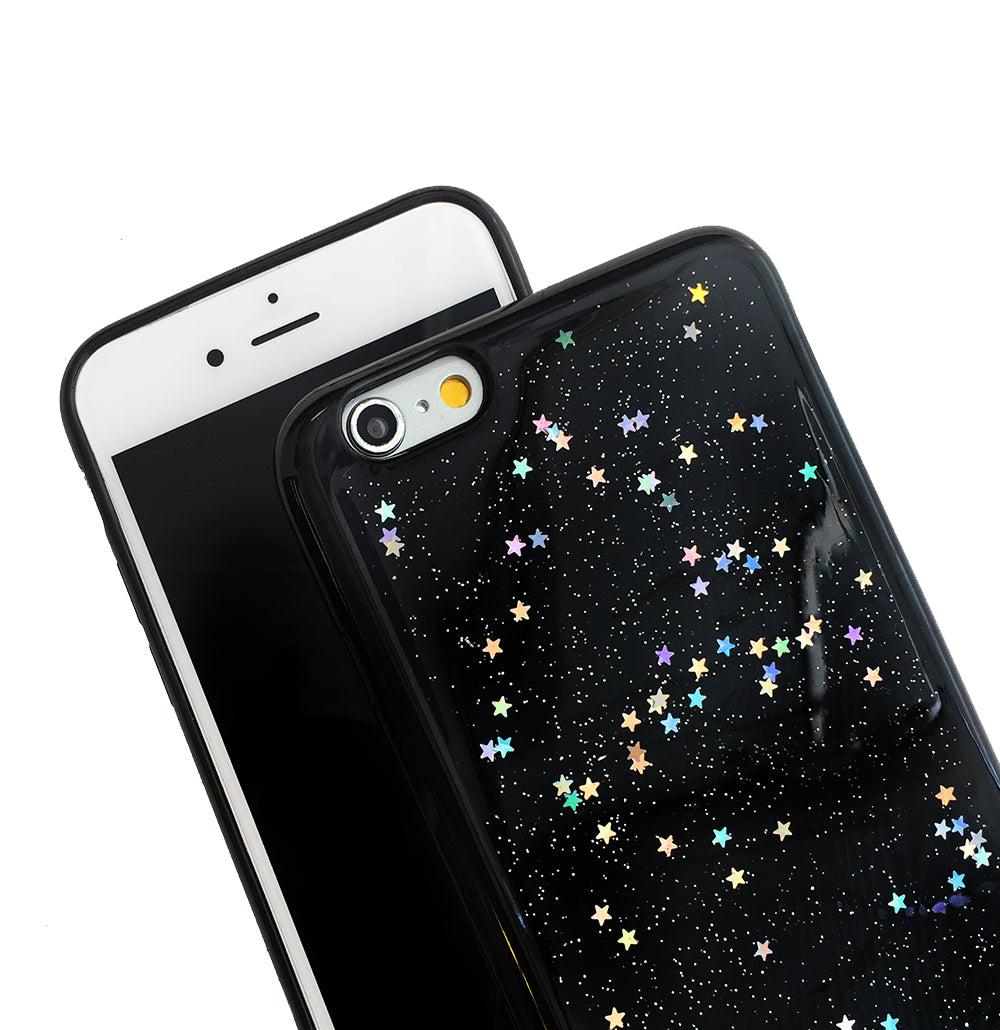 Black Glitter Stardust Quote Phone Case