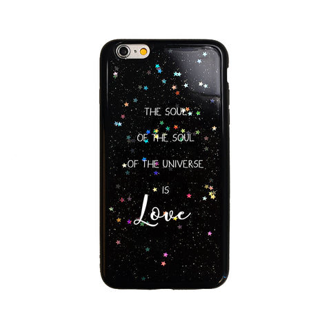 Black Glitter Rumi Love Quote iPhone Case