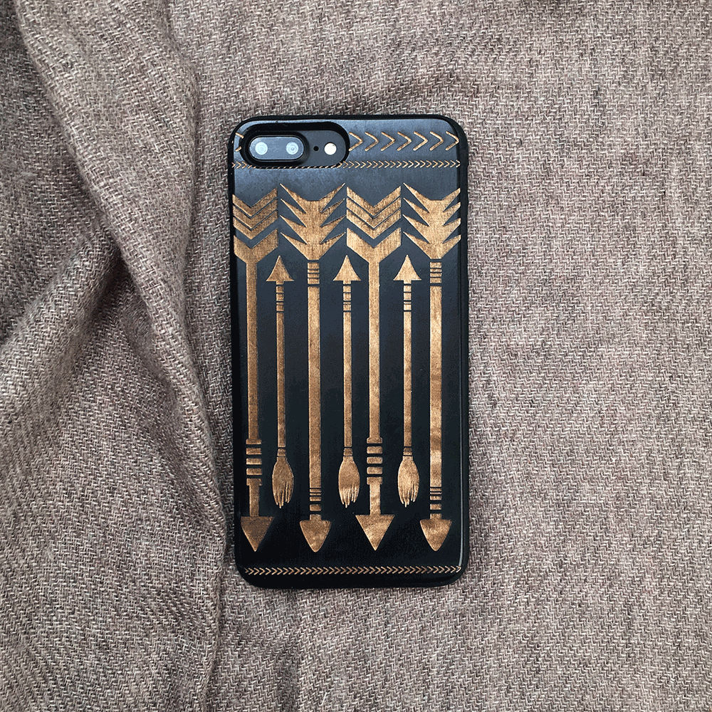 Bohemian Arrows Wooden iPhone Case