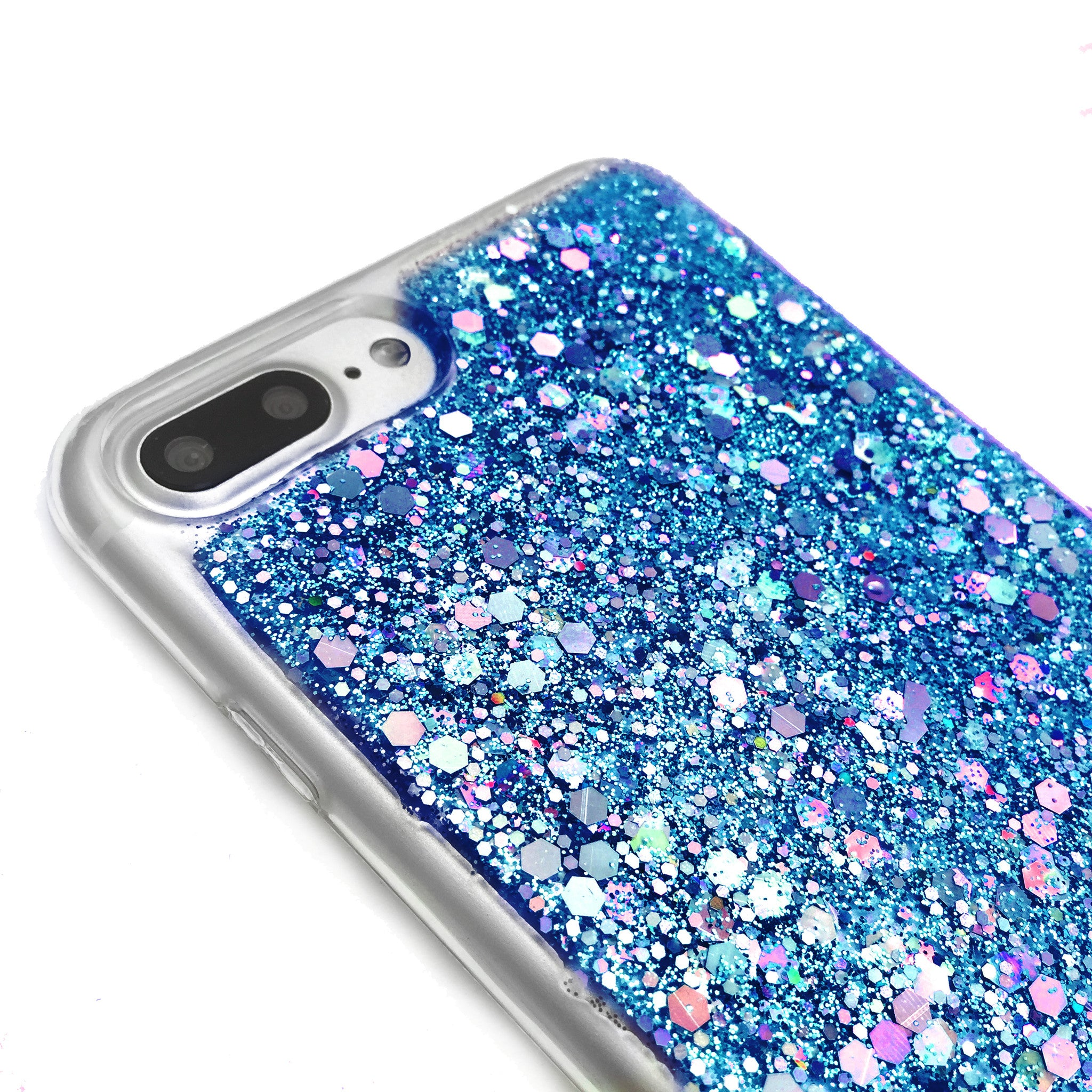 Bride - Wedding / Bridal  Blue Glitter Phone Case - Flexible TPU