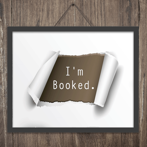 I'm Booked Wall Art Print
