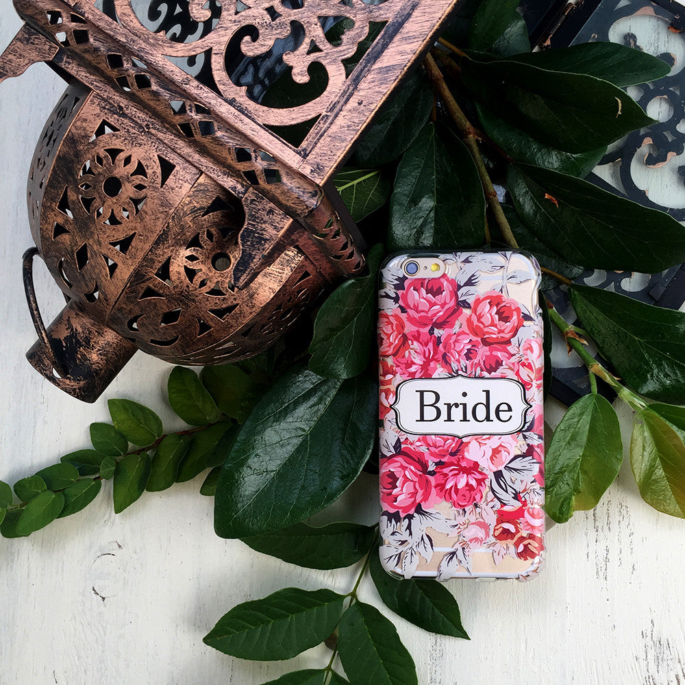Shabby Chic Bride Wedding Phone Case - Clear Printed TPU