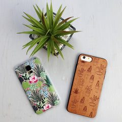 Succulent Cactus Pattern Phone Case - Clear Printed TPU