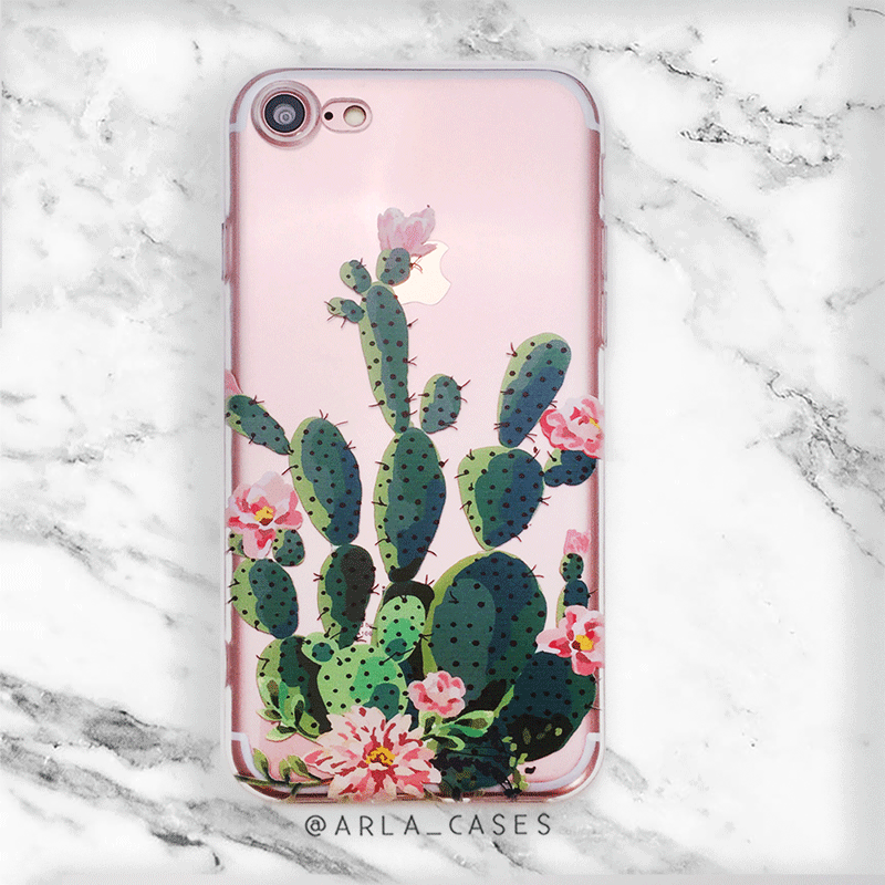 Prickly Pear Cactus iPhone and Galaxy Phone Case