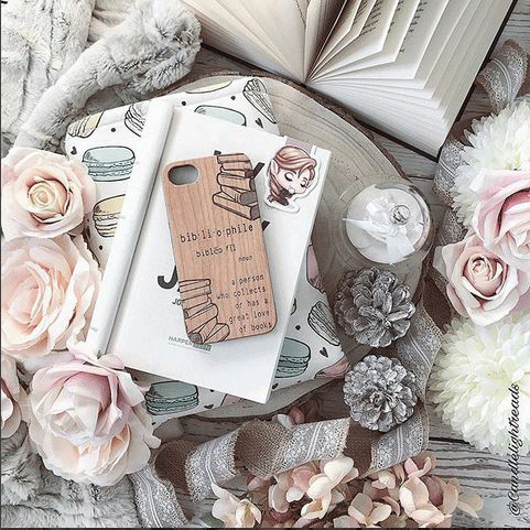 @candlelightreads bibliophile iphone case