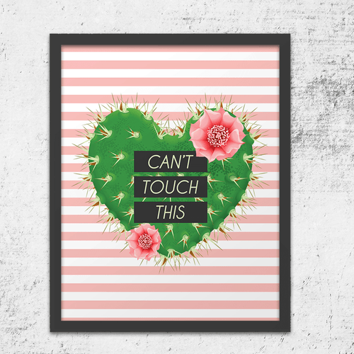 anti-valentine gift art print can't touch this