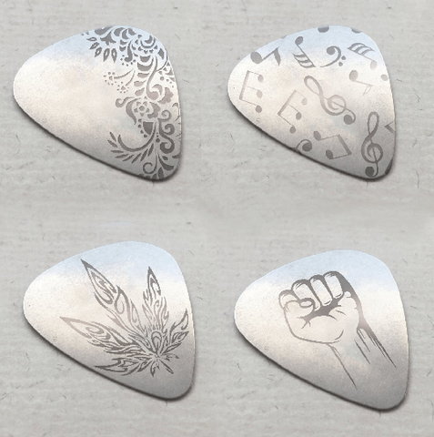 Steel Engraved Guitar Picks