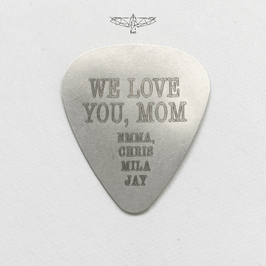 Custom Steel Engraved Guitar Pick