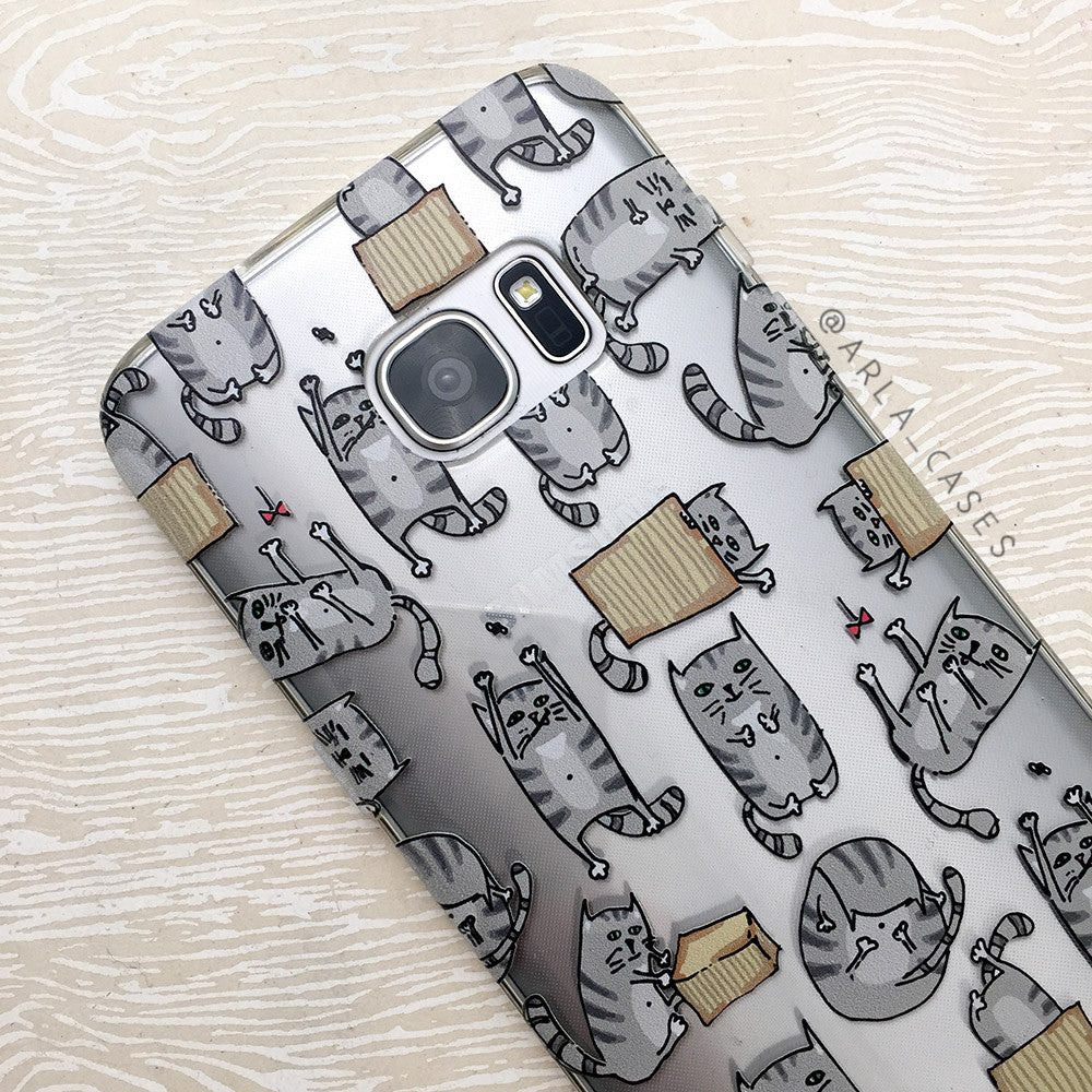 Cats Out of the Bag on Clear Printed iPhone Case