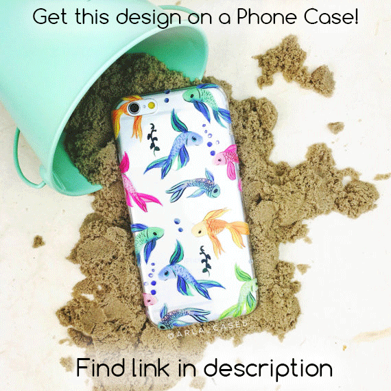 Rainbow Fish Rainbow Liquid Glitter Phone Case