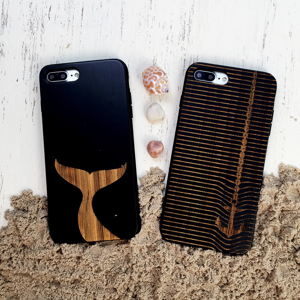 Heavy Anchor Wood Phone Case