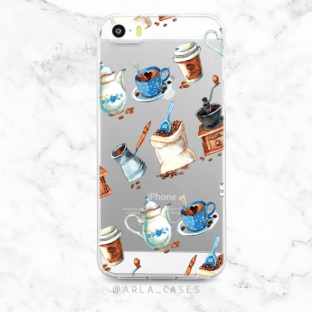 Coffee Clear iPhone and Galaxy Phone Case