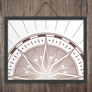 Compass Wall Art Print
