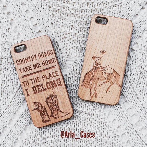 Country Roads Take Me Home ... Wood Phone Case
