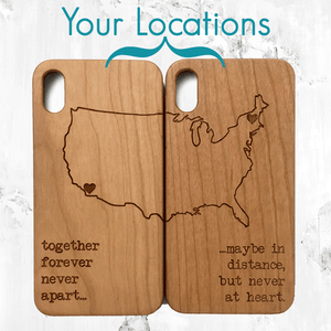 Long Distance Relationship Matching Phone Cases