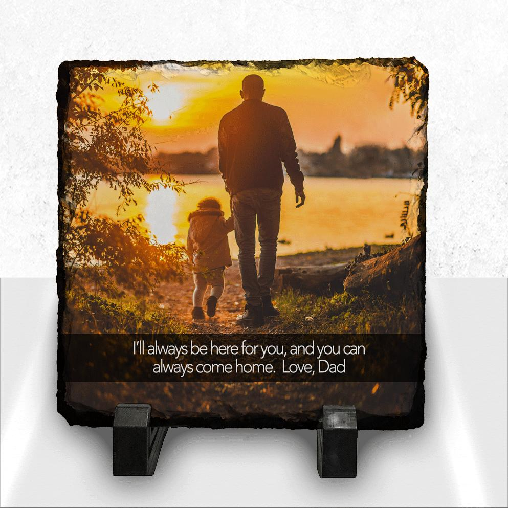 Custom Photo Plaque with Message