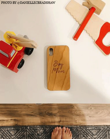 @daniellecbradshaw boy mom phone case