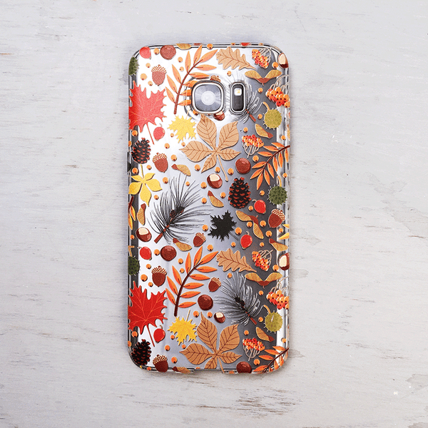 Autumn Phone Case with Leaves and Nature