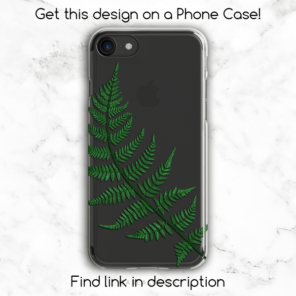 Green Fern Leaf Gold Glitter Phone Case
