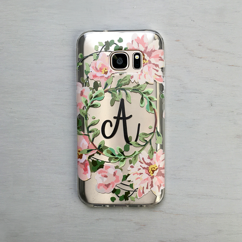 Vintage Roses and Flowers - Clear Printed TPU Phone Case