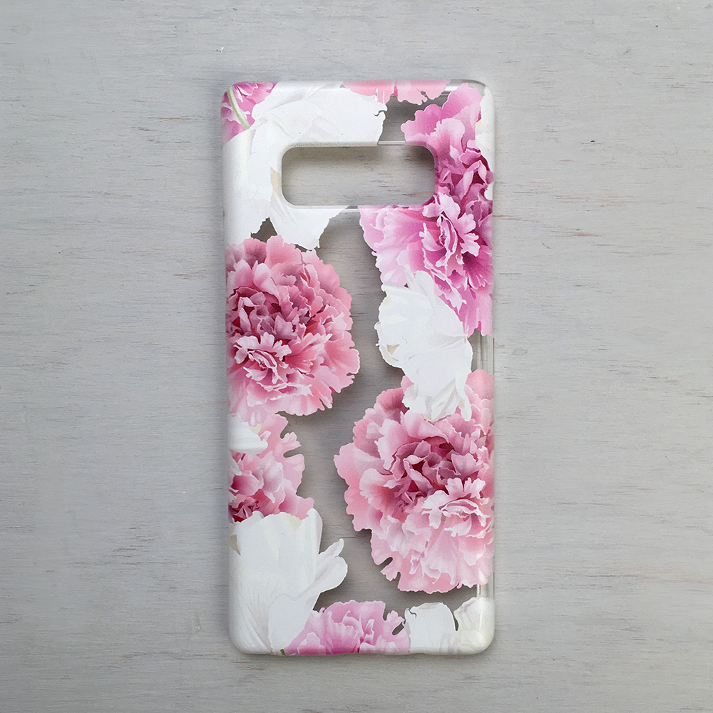 Pink Peonies Phone Case - Clear TPU Floral Case