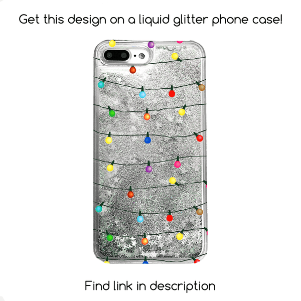String Christmas Lights Phone Case - Clear TPU Phone Case with Print