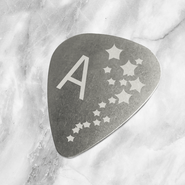 Copy of Custom Steel Guitar Pick with Star Initials