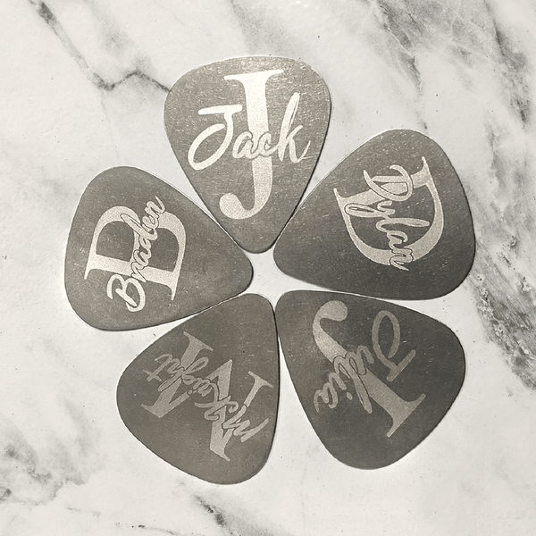 Custom Initial Monogram Guitar Pick
