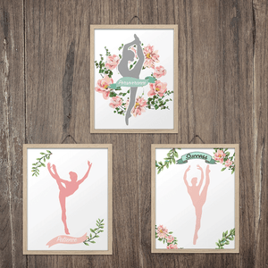 Gymnastics Set of 3 Art Prints