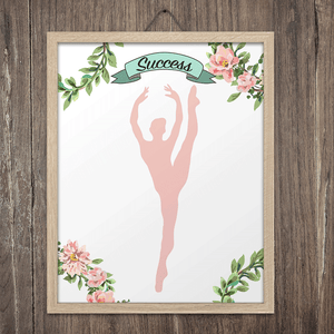 Gymnastics Success Wall Art Print