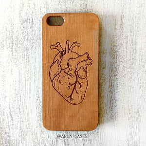 Human Heart Wood iPhone Case