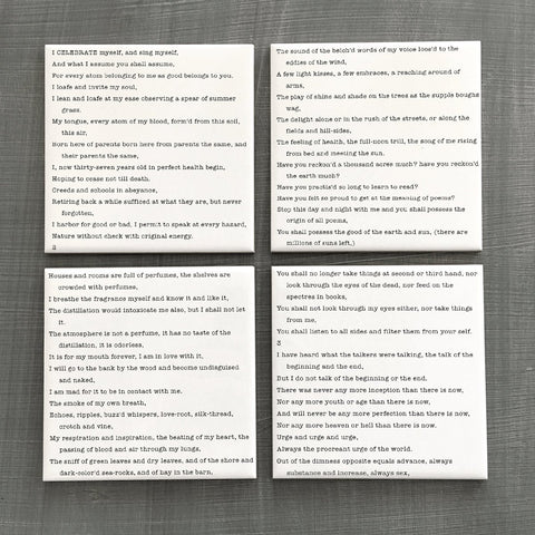 Walt Whitman Song of Myself Coasters