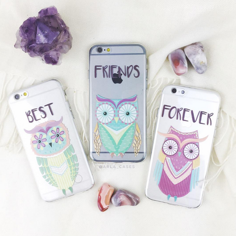 Best Friends Forever Owls Phone Case Set