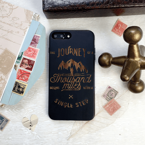 Journey Quote Wood iPhone and Galaxy Phone Case