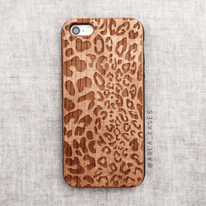 Leopard Wood iPhone and Galaxy Phone Case