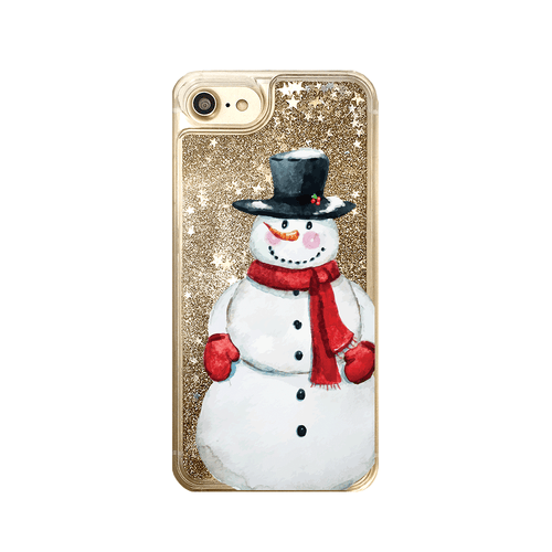 Snowman Glitter iPhone Case