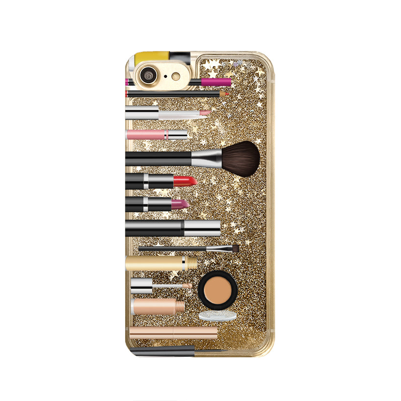 Liquid Glitter Makeup Phone Cases