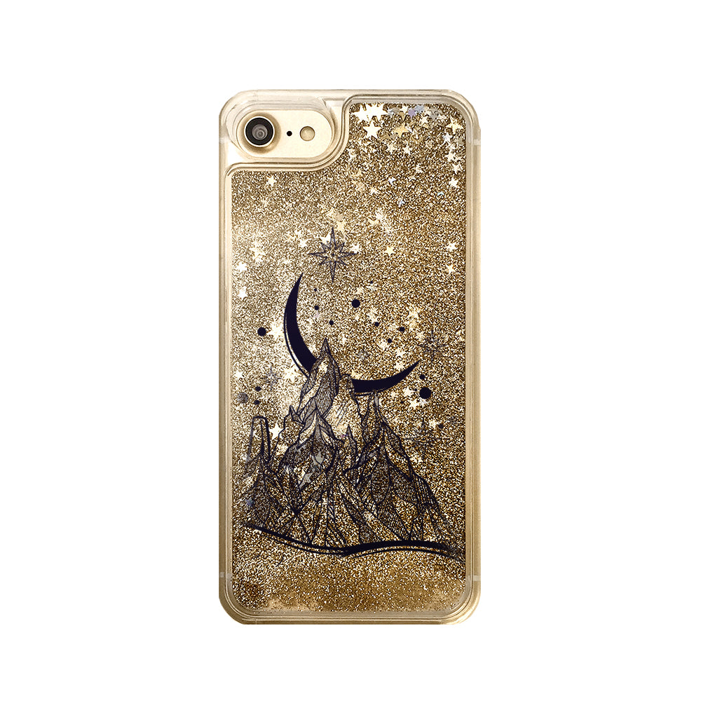 Mountain Sky Liquid Glitter iPhone Case