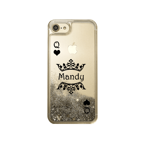 Gold Glitter Queen of Hearts Custom Case