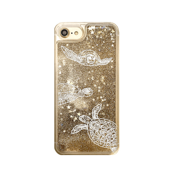 Sea Turtles Liquid Glitter iPhone Case
