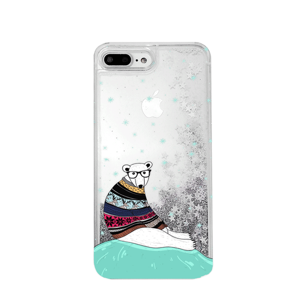 Polar Bear Glitter iPhone Case