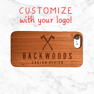 Custom Business Logo Wood Phone Case