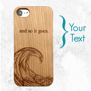 Custom Ocean Wave Wood Phone Case