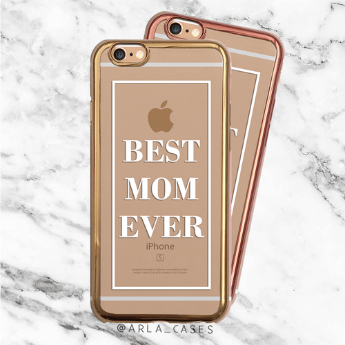 Best Mom Ever Metallic iPhone Case