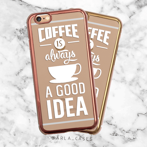 Metallic Coffee iPhone Case