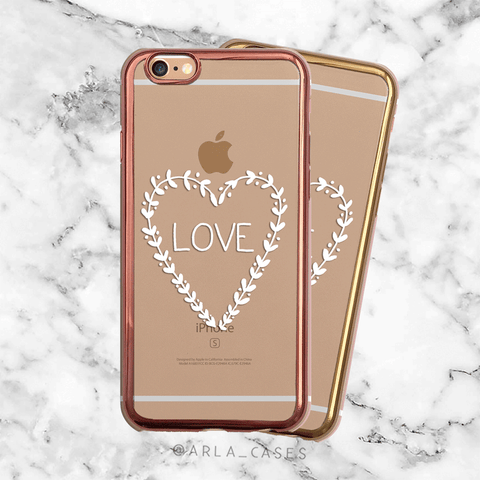 Metallic Love iPhone Case