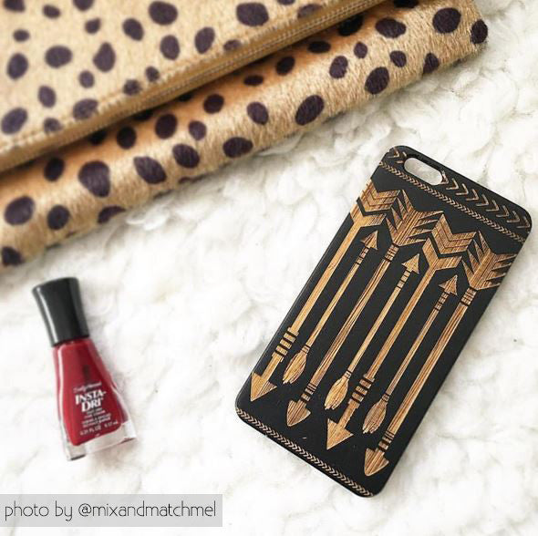 Tribal Arrows Wood Phone Case