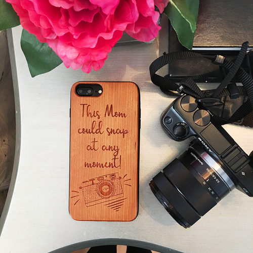 Photography Mom Wood Phone Case