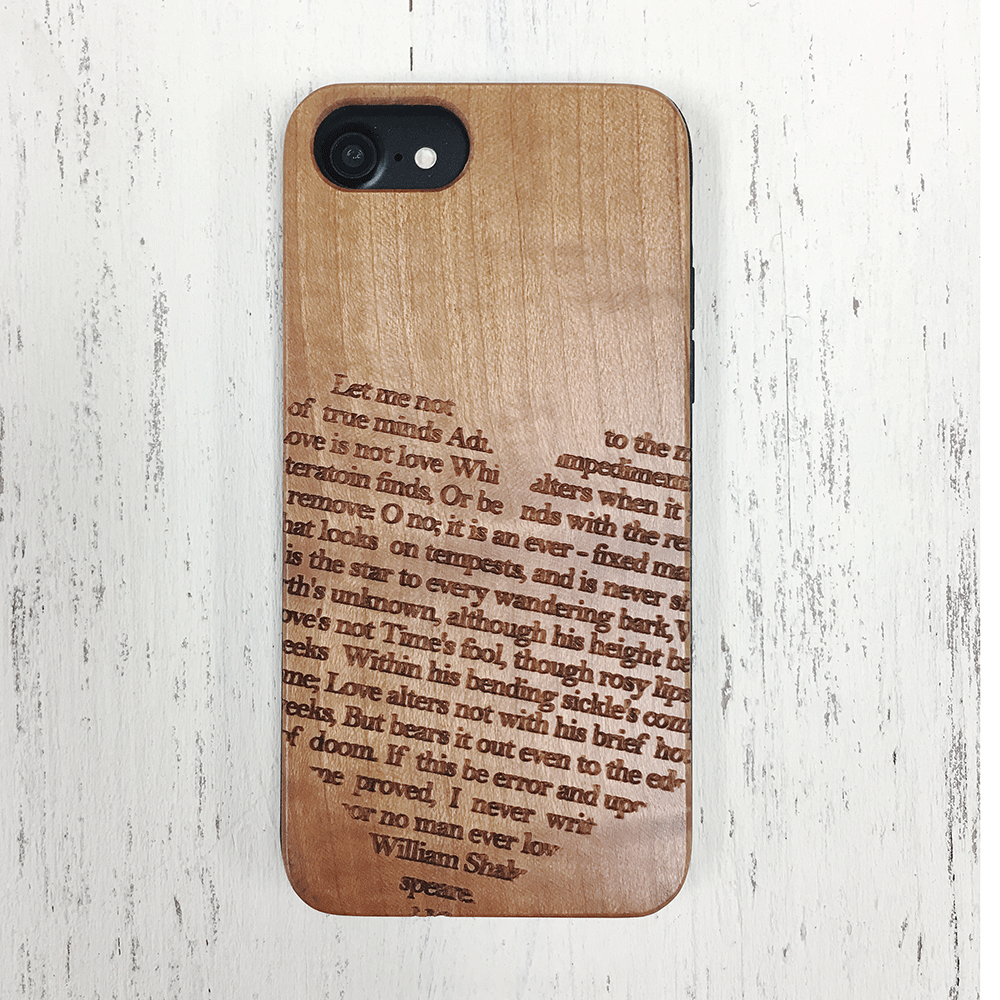 Shakespeare Sonnet 116 Wood Phone Case