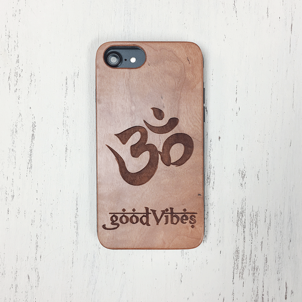 Good Vibes Wood iPhone and Galaxy Phone Case
